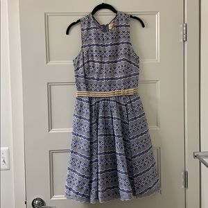 Blue and white Anthropologie dress